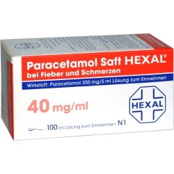 PARACETAMOL Saft HEXAL 200 mg/5 ml b.Fieb.u.Schme. 100 ml Lösung zum Einnehmen