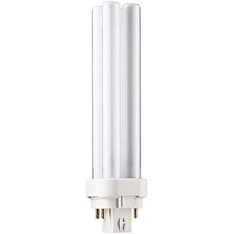 5x GE 12865Biax D/E 18W Risparmio Energetico 4pin 4P G24q-2, Bianco caldo 2700K PLC PL lampadine lampadina f18dbx/spx27/827/4P