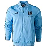 12-13 Man City Walkout Jacket - Sky