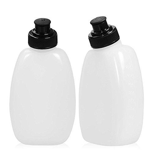 Efanr Lot de 2 bouteilles d'eau 241 gram sans BPA LeakProof Bouteille pour Adalid Gear Ceinture d'hydratation Convient pour la plupart des cours ceintures de carburant et Fanny Packs