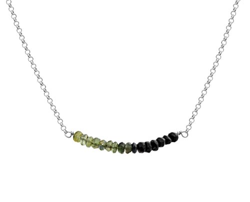 sterling-silver-green-to-black-ombre-faceted-tourmaline-bar-necklace