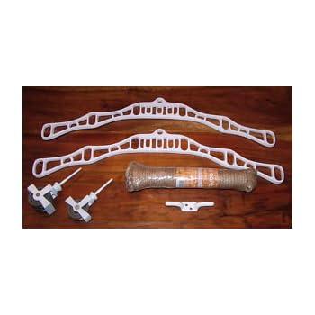 Super 6 Victorian Clothes Airer Kit White Cast Iron