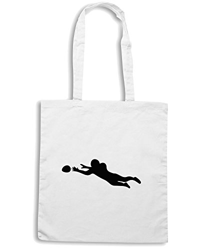 T-Shirtshock - Borsa Shopping WC1016 American Football Jump Maglietta Bianco