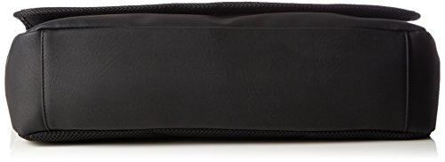 Calvin Klein Jeans  PLAY MESSENGER WITH FLAP, Sacs bandoulière homme Noir - Schwarz (BLACK 001 001)