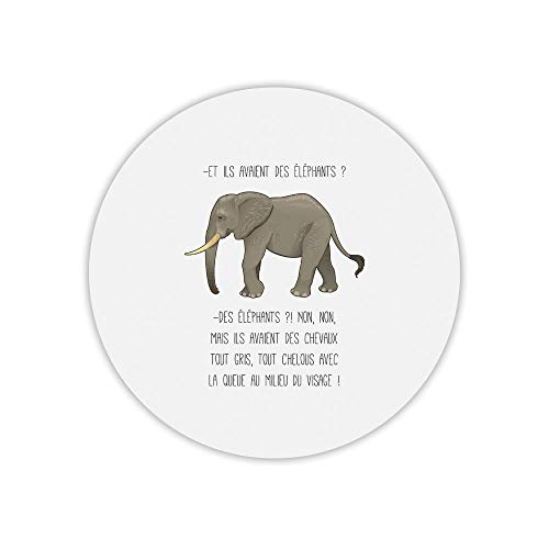 Alfombra de ratón Redondo kaamelott Elefantes chelous