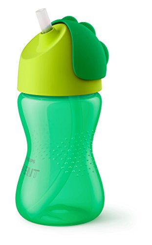 Philips Avent SCF798/01 - Vaso con pajita flexible, 300 ml, 12 m+, válvula...
