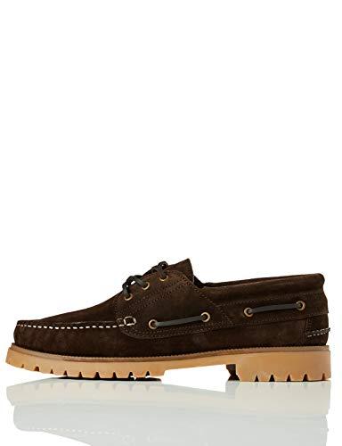 find. Leather, Scarpe da Barca Uomo, Marrone (Marron), 45 EU (10.5/11UK)
