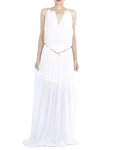 ib-ip-mujer-collar-de-oro-gasa-decorada-raja-con-cuello-en-maxi-vestido-plisado-tamano-m-l-blanco