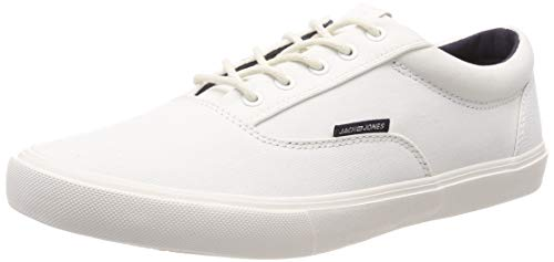 JACK & JONES Herren JFWVISION Classic Mixed Bright White Sneaker Weiß, 44 EU