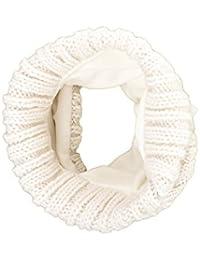maximo Mädchen Halstuch Tupe, Loop Jean, Innenfutter, Weiß (wollweiß 38), One Size (Herstellergröße: 1sz.)
