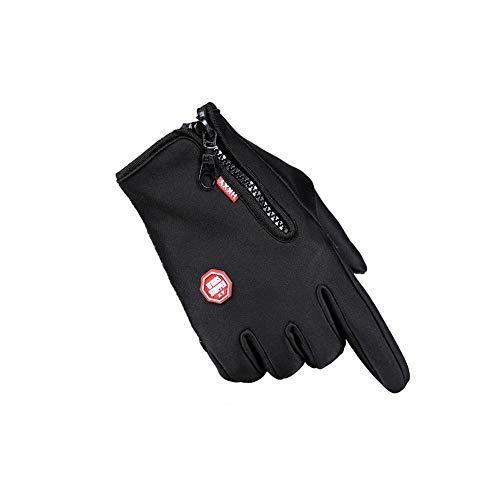 Sconosciuto ff guanti da equitazione autunno inverno outdoor alpinismo antiscivolo bicicletta pieno dito antivento mantenere caldo maschio femmina (colore : nero, size : m)