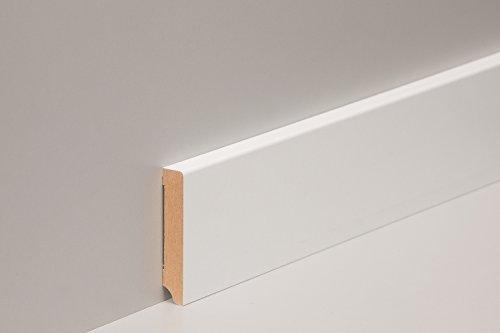 1 PAKET 10-100 Meter Sockelleisten MDF Fußleisten weiß 80-120mm Bodenleisten