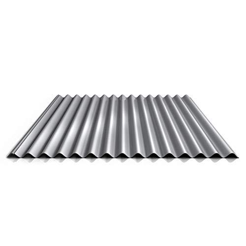 Wellblech   Profilblech   Dachblech   Profil PA18/1064CR   Material Aluminium   Stärke 0,70 mm   Beschichtung 25 µm   Farbe Weißaluminium