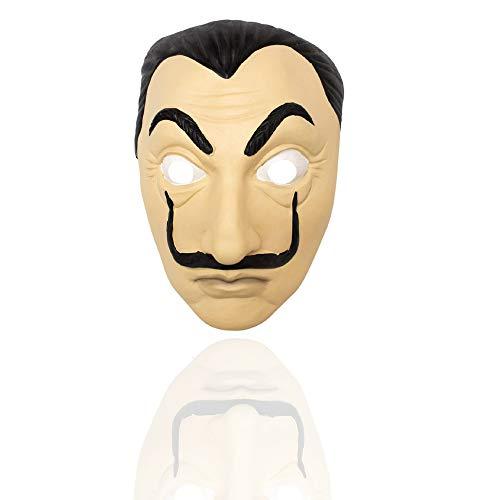 Heist Kostüm - leegicst Salvador Dali Maske Realistische Prop Gesichtsmaske Neuheit Cosplay Kostüm Party Maske fur Zauberer-Kostüm für Halloween Tanzparty (Dali Maske(B))