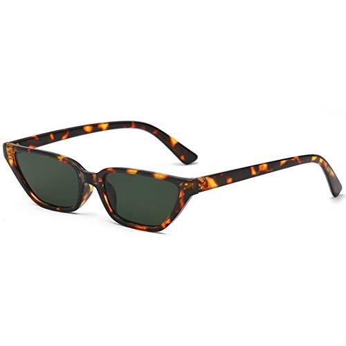 Shiduoli Retro Cat Eye Sunglasses Small Frame Brillen für Männer, Frauen (Color : D)