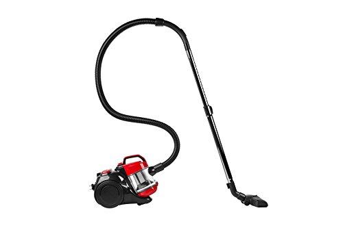 MEDION MD 18004 Zyklonen-Staubsauger (140 Watt Saugkraft, 700 Watt Leistung, 7 M Arbeitsradius, 1,5 Liter Staubbehälterkapazität, waschbarer EPA-Filter E12) rot