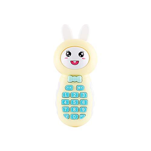Trifycore Baby-Spielzeug Telefon Kaninchen geprägt Kinder Musik-Handy Spielzeug Lernen Cartoon Music Phone pädagogisches Spielzeug-Geschenk-Handy für Baby-Kleinkind zufällige Farbe