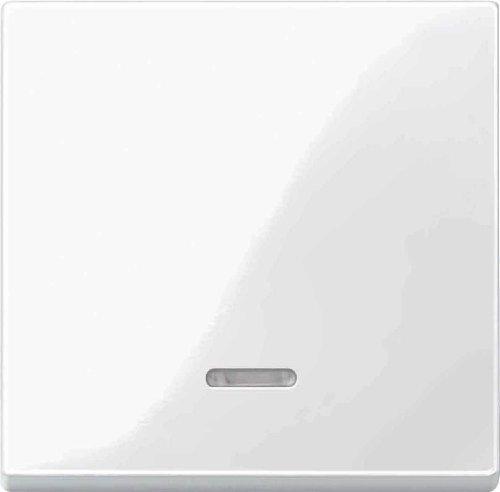 Merten Wippe mit Kontrollfenster, System M, polarweiß glänzend, 436019 (Licht Wippe)