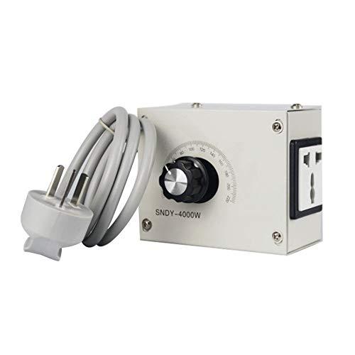 4000W AC 220V Variabler Spannungsregler Keine Hysterese/Latenz für leichte Lüftergeschwindigkeit Motordimmer überlegene Wärmeableitung weiß (Audio-verstärker 4000 Watt)