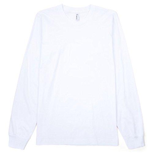 American Apparel Unisex Longsleeve / T-Shirt mit Rundhalsausschnitt, Langarm (XL) (Weiß) (American Apparel-track Shirt)