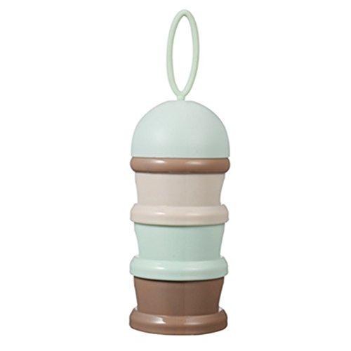 2er Pack Bunt Milchpulverportionierer Babynahrung Snack Container Flasche 3 Schichten Kinder...