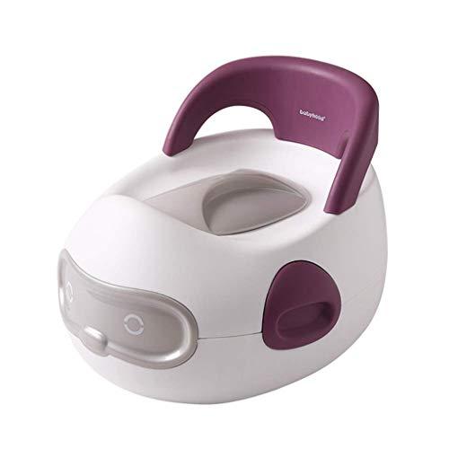 SZPDD Kinder-WC mit Toilettenbürste für Kinder,Purple,37.5x32x28.5cm