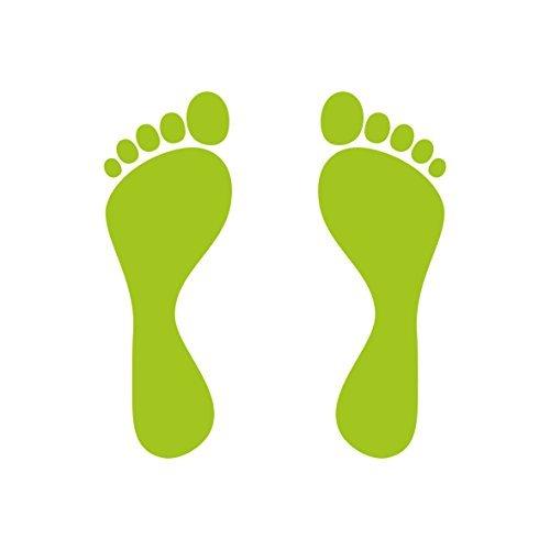 Füße Kinderfüße Fußabdruck Aufkleber Tattoo die cut Auto Heck Deko Folie (Fußabdruck-aufkleber)