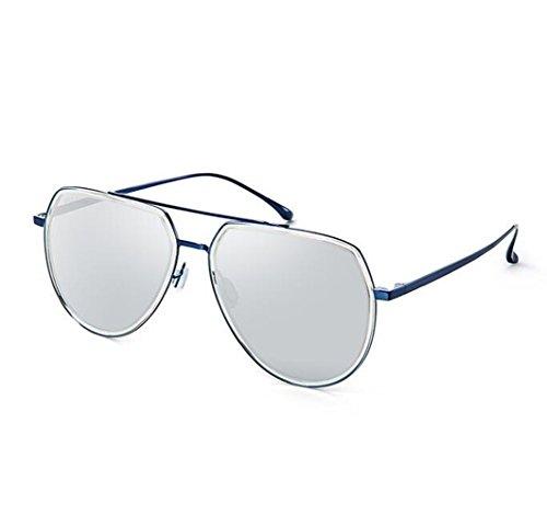 SHULING Sonnenbrille Neue Optische Sonnenbrillen Sonnenbrillen Fahren Gläser, Blue Box/Platin Chip (Platin-chip)
