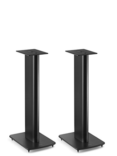 KEF Performance Speaker Stand für Regallautsprecher mit Kabelführung (Paar), Schwarz