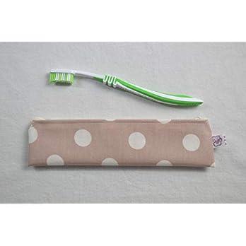 Zahnbürsten-Tasche Punkte auf Rose