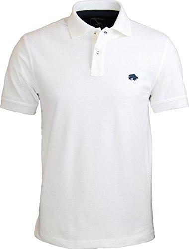 Raging Bull New Signature Poloshirt, Herren M Weiß - Weiß
