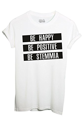 t-shirt-be-happy-be-stemmia-funny-by-image-dress-your-style-bambino-m-bianca