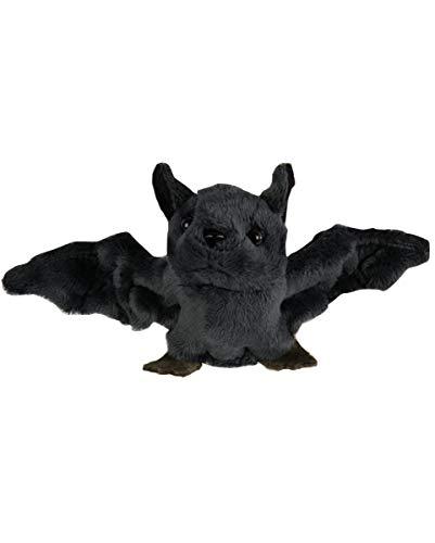 Horror-Shop Plüsch Fledermaus mit Magnet als Halloween-Deko oder als Mitbringsel zur Halloween Party