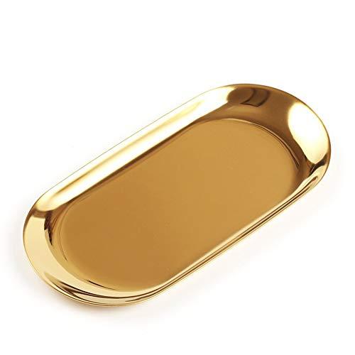 Acero Inoxidable cosméticos joyería Almacenamiento Organizador Caja con Forma de Bandeja...