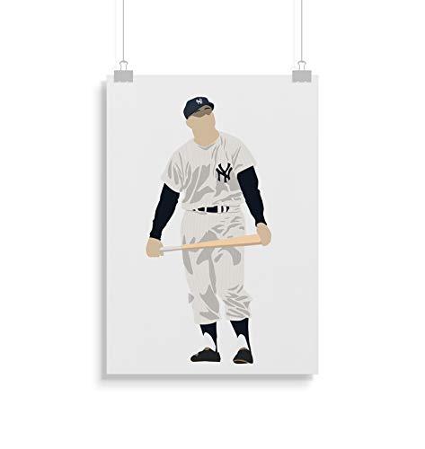 Mickey Mantle inspirierte Poster - Zitat - Alternative Sport/Baseball Prints in verschiedenen Größen (Rahmen nicht im Lieferumfang enthalten) - Mickey Mantle Yankees