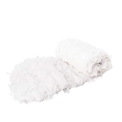 LIYIN-Voiles d'ombrage Weiß Militär Waldtarnnetz Oxford-Stoff Premium Mesh UV-beständiges Netz Mesh Sunblock Shade Cloth für Woodland Camping Outdoor Jagd Schießen -