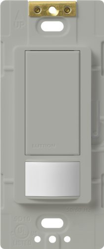 Lutron Maestro Motion Sensor switch, no neutral required, 600 Watts Single-Pole/Multi Location, MS-OPS5M-GR, Gray by Lutron -