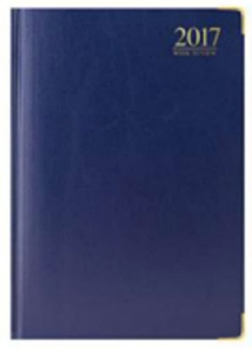 tallon-2017-week-to-view-padded-a4-diary-gilded-corners-3985-blue