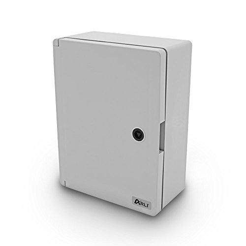 Schaltschrank IP65 Industriegehäuse 250 x 350 x 150 mm verzinkter Montageplatte Verriegelung Tür mit umlaufender Dichtung Gehäuse Leergehäuse ABS Kunststoff leer Schrank ARLI 25 x 35 x 15 cm