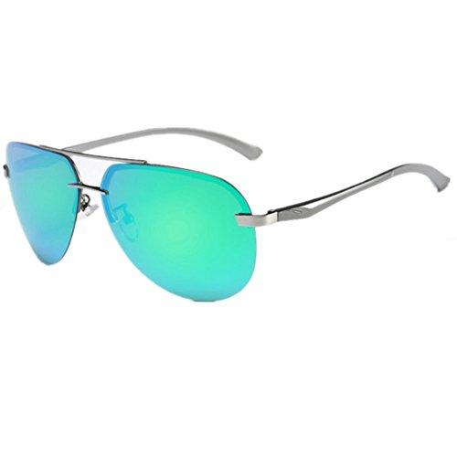 O-C Damen Sonnenbrille Türkis silver frame,Turquoise lens