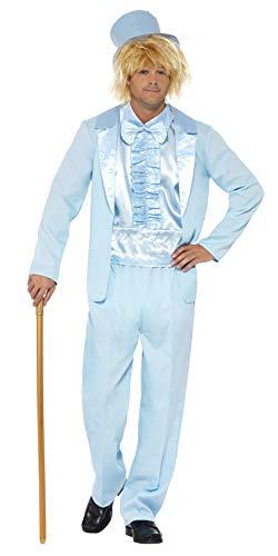 Smiffys Herren 90er Jahre Alberner Smoking Kostüm, Jacke, Hose, Hemd und Hut, Größe: M, 43203