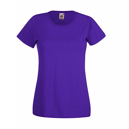 Fruit of the Loom Lady-Fit Valueweight T 5er Pack Purple