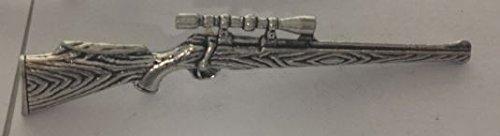 G23Jagd Gewehr Tack Krawattennadel mit Kette Englisch Zinn handgefertigt in Sheffield