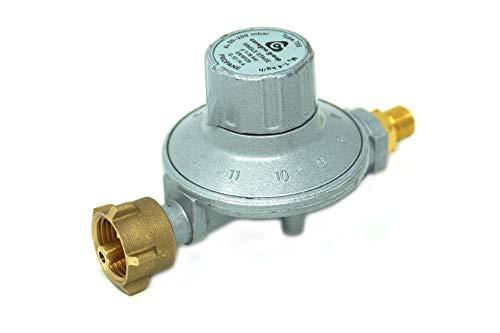 Cavagna Niederdruckregler 50-200mbar 11-stufig verstellbar Gasdruckregler für Gas-Grill, Gasstrahler, Gaskocher, Hockerkocher, Terrassenstrahler -