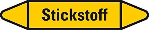 LEMAX® Rohrleitungsetikett Stickstoff, gelb/schwarz, für Ø 60-90mm, 252x52mm, 3/Bogen 4 Stück