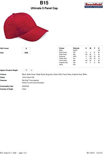 Beechfield - Casquette Ultimate 5 panneaux Beechfield white