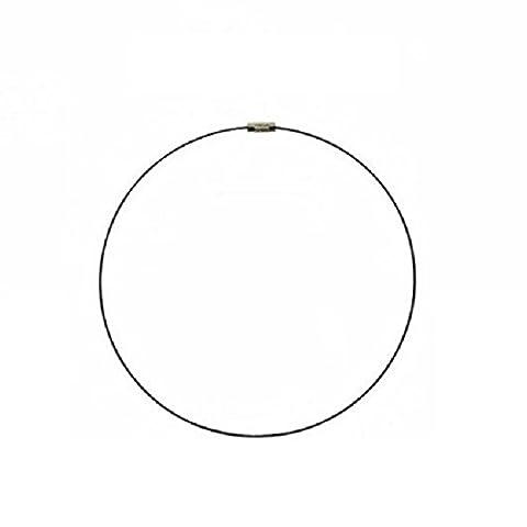 eeddoo® Halsreifen - metallic - BN - Brown / Braun (Halskette Edelstahlschmuck für Damen und Herren)
