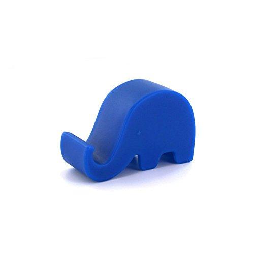 Cdet Mini Soporte del Soporte del sostenedor de Smartphone del Elefante para la Nota 2 3 de la Galaxia del iPhone 5G 5S 4 HTC Azul