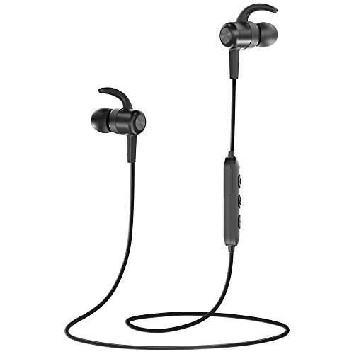 Bluetooth Headphones, TaoTronics Wireless Headphones, Bluetooth 4.1 Magnetic Sweatproof Sports Earphones with CVC 6.0 Noise Isolating and 9 hours Playtime