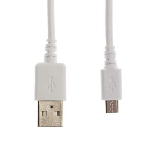 Kingfisher Technologie 90cm USB-Daten Synch und Ladegerät Power weiß Kabel führen Adapter (22AWG) für Acer Liquid Mini Ferrari E310Telefon -